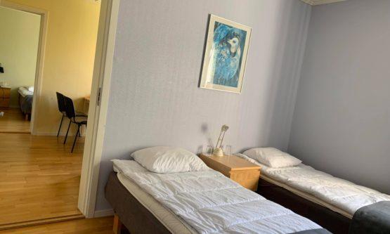 Vandrarhemslägenhet med två sovrum